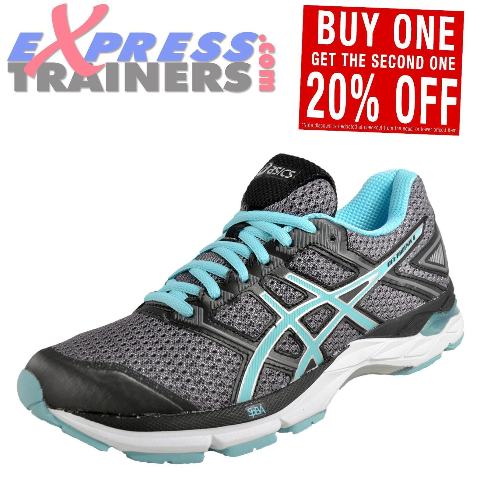 575909c719236 Asics Gel Phoenix 8 Womens Running Shoes Fitness Gym Trainers Carbon ...