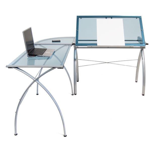 Studio Designs Futura LS Glass Top Drafting Table Work Center