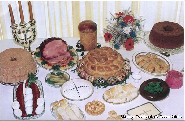 "Easter traditional ""table"", Ukraine"