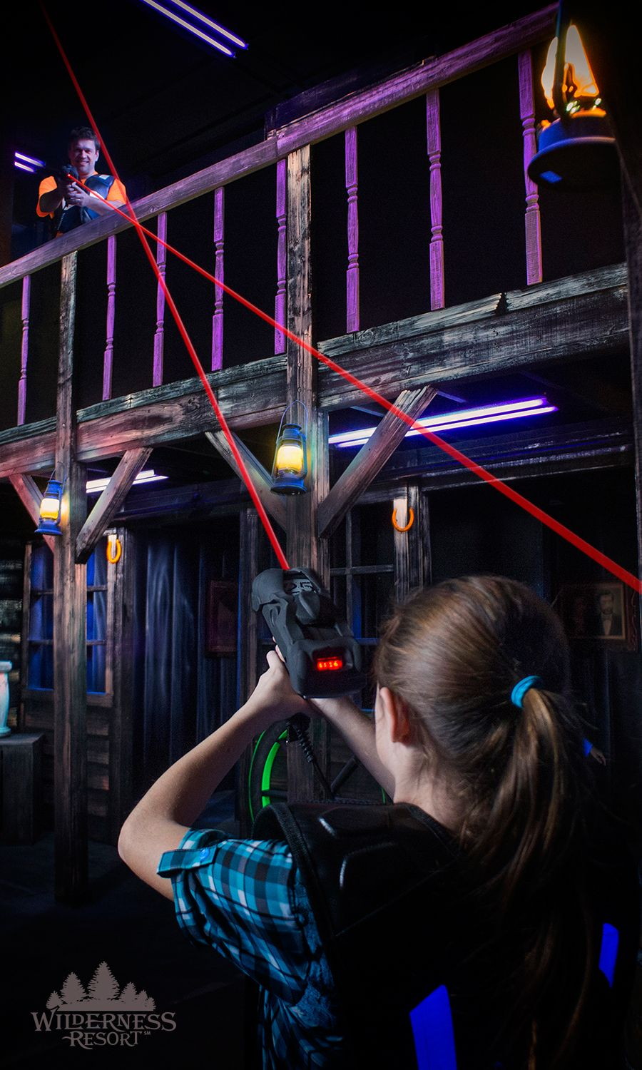 Ok Corral Lazer Tag Wilderness Resort Wisconsin Dells Attractions Lazer Tag Laser Tag Party Wilderness Resort