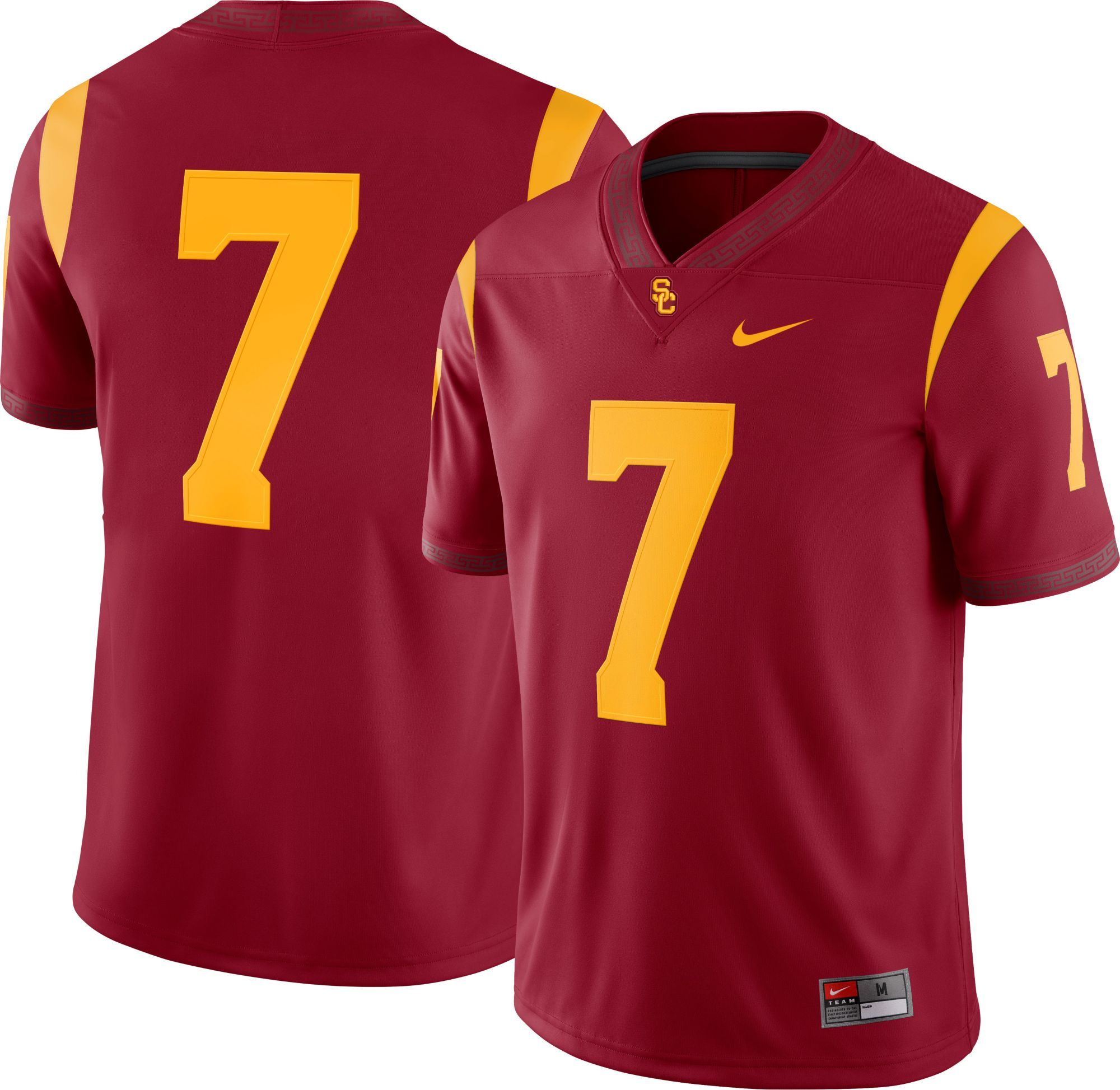 3eba6644fdc Nike Men s USC Trojans  7 Cardinal Game Football Jersey