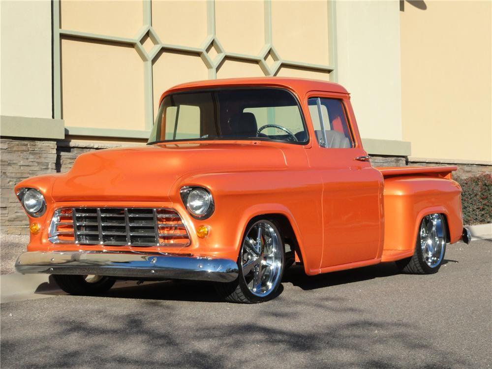 1955 Chevy Truck Barrett Jackson Lot 76 1955 Chevrolet Custom