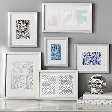 gallery frames set of 6 silver