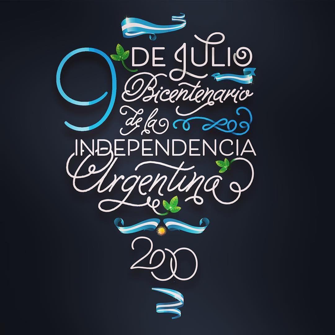Feliz bicentenario a nuestro amado país  !!! 9 de julio  día de la independencia Argentina. #200 #bicentenario #9dejulio #1816/2016 #independenciaargentina #argentina #diseñodeposter #letteringdesign #diseñografico #graphicdesigner #mondieudesign