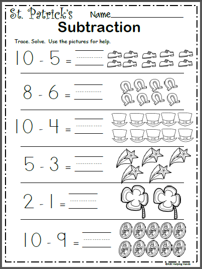 Free March Math Worksheet Subtraction Madebyteachers Subtraction Kindergarten Kindergarten Math Worksheets Math Subtraction