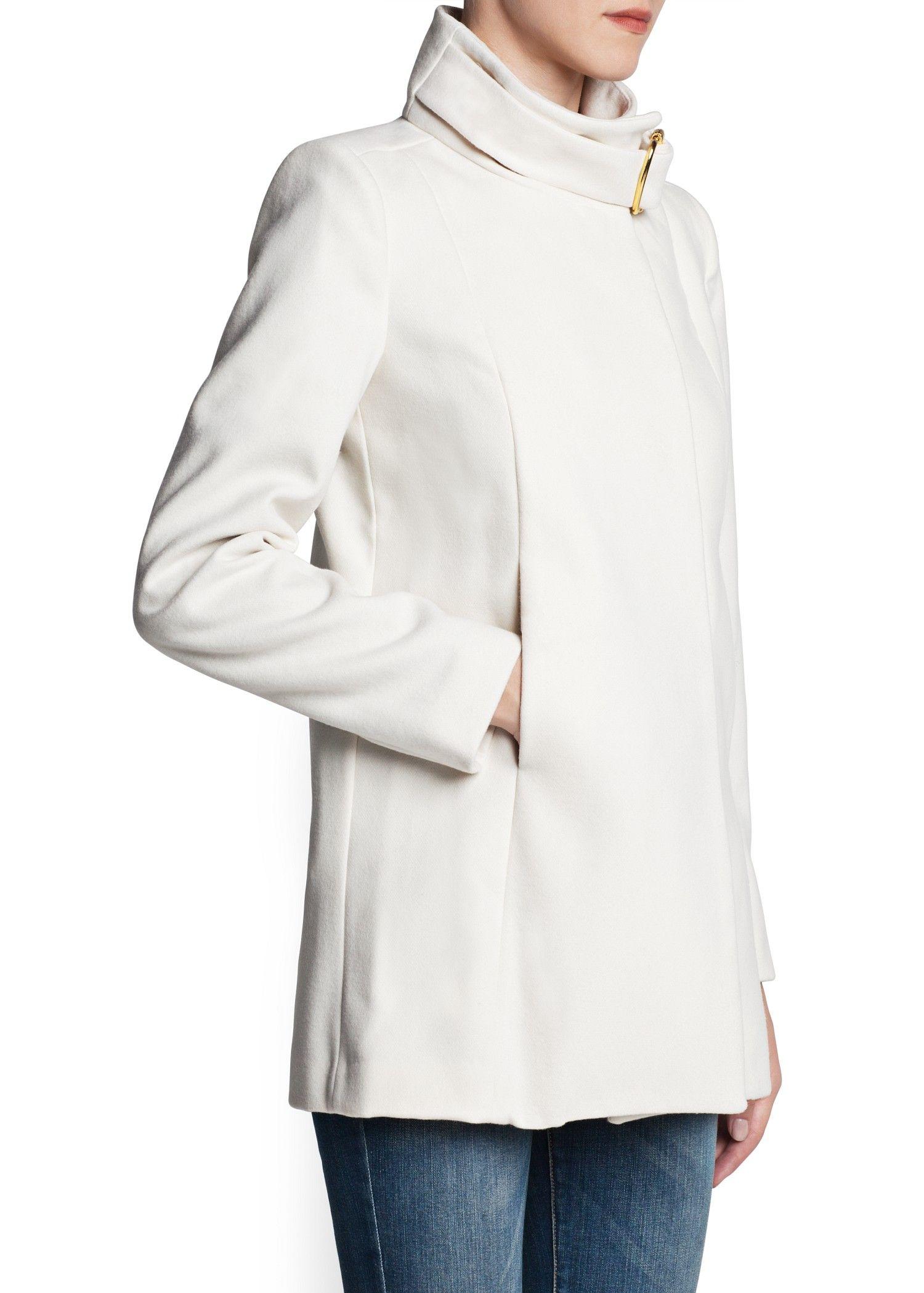 MANGO - CLOTHING - Coats - Funnel neck coat