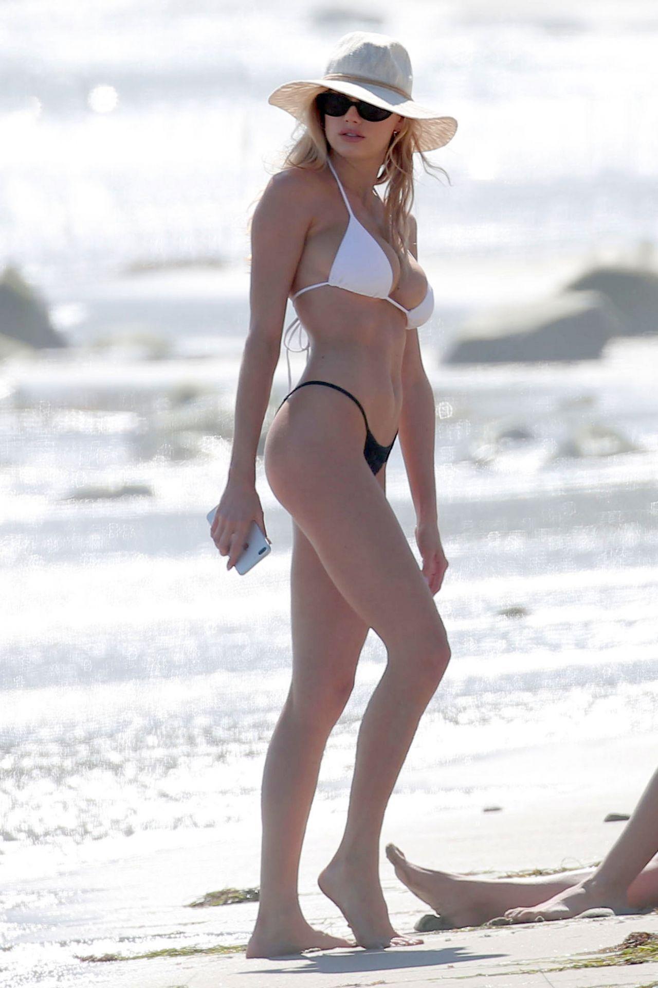 c6067ef801c50 Charlotte McKinney Hot in Bikini – Beach in LA 05 29 2017 ...