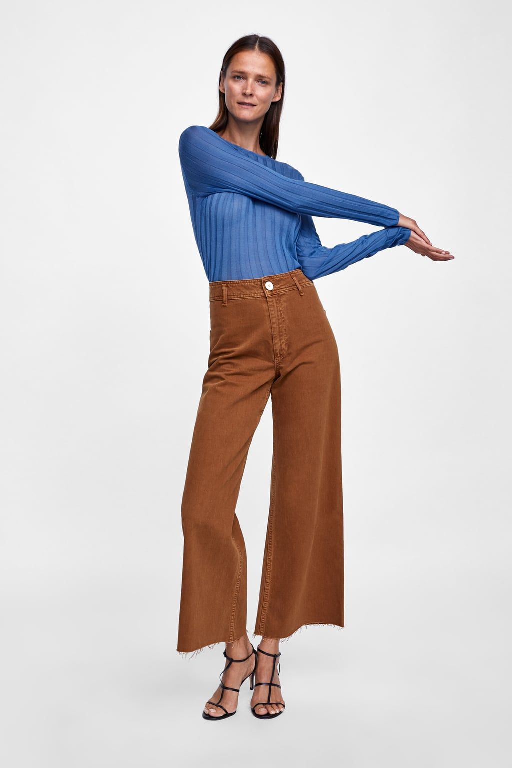 Image 1 Of Jeans Zw Premium Marine Straight From Zara Straight Jeans Fall Denim Trends Denim Trends