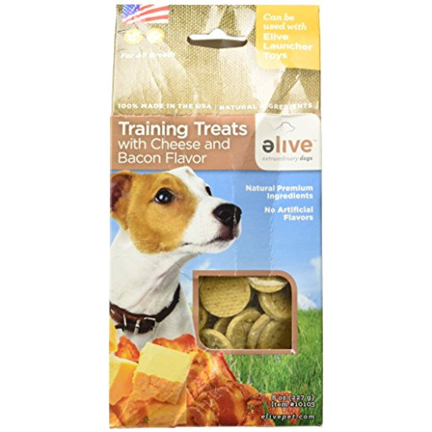 Elive Dog Training Treats Cheese And Bacon Flavor Delicious