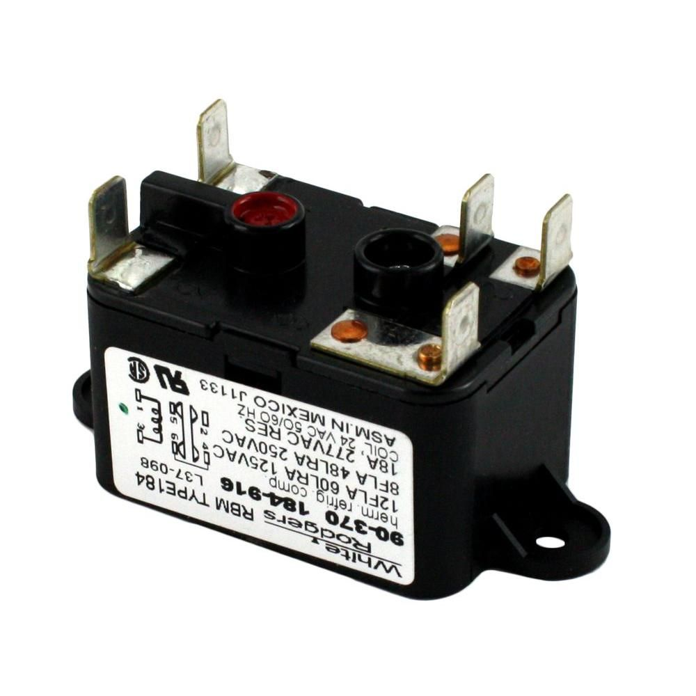 White Rodgers 24 Volt Coil Voltage Spdt Rbm Type Relay 90 370 The Home Depot Coil Relay White Faucet