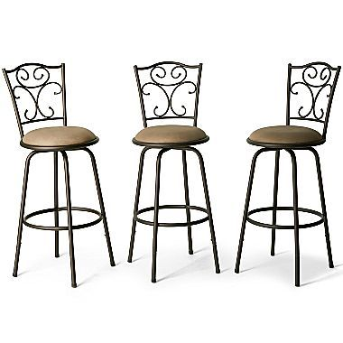 Barstools Madrid 3 Pack Jcpenney Adjustable Bar Stools Bar Stools Kitchen Bar Stools
