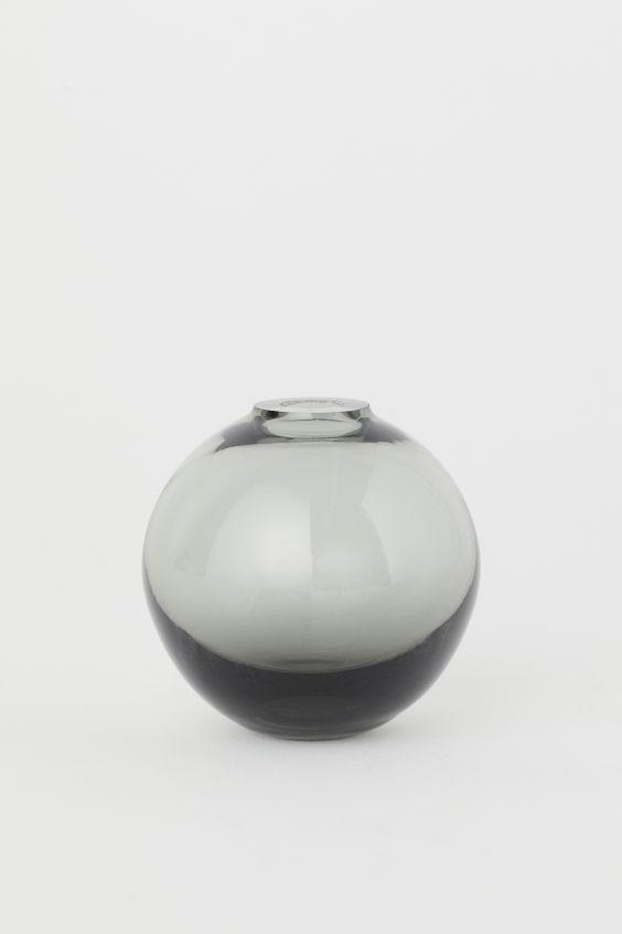 Large Round Glass Vase Large Glass Vase Glass Vase Glass
