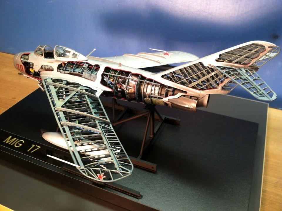 Trumpeter 1 32 Mig 17 Cutaway Model Aircraft