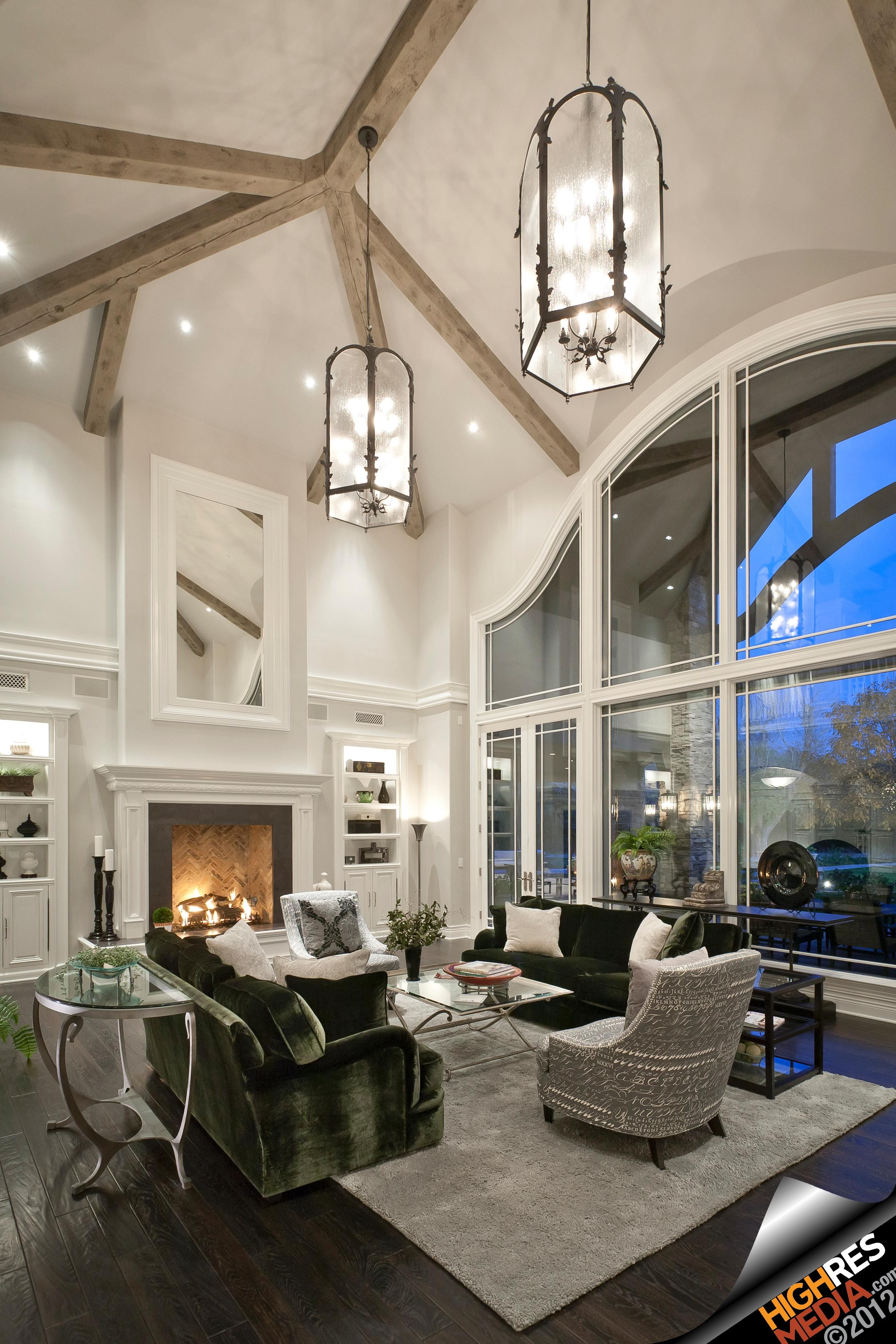 Incroyable Luxury Living Room With Fireplace   Scottsdale,AZ