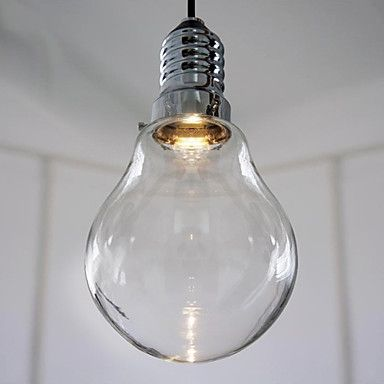 3w modern led pendant light with high transparence glass bulb 3w modern led pendant light with high transparence glass bulb shade aloadofball Image collections