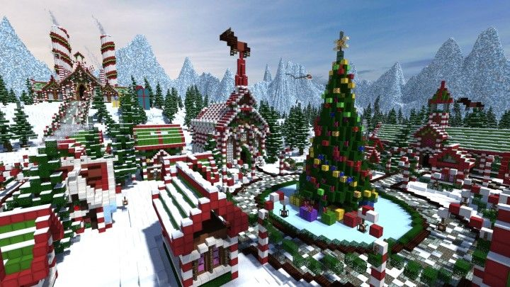 Minecraft Christmas Houses.Thereawakens Santa S Gingerbread Christmas City Download
