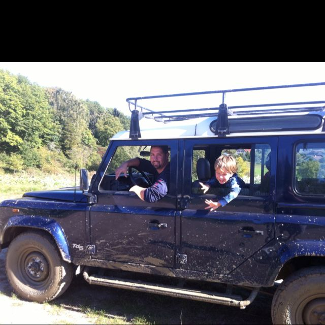 My Two pals Max and my Defender.