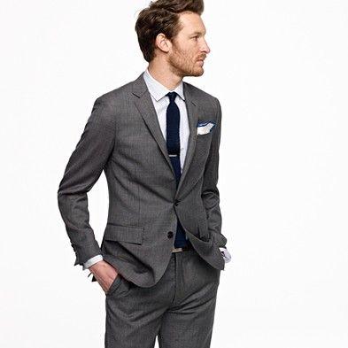 Slim-fit tailored blazer   Charcoal suit, Men's suits and Men's ...