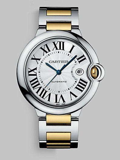 Cartier - Ballon Bleu de Cartier Steel and Yellow Gold Watch on Bracelet, Large - Saks.com