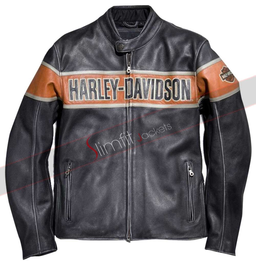 HarleyDavidson® Mens Rocker 3in1 Long B&S Biker Black