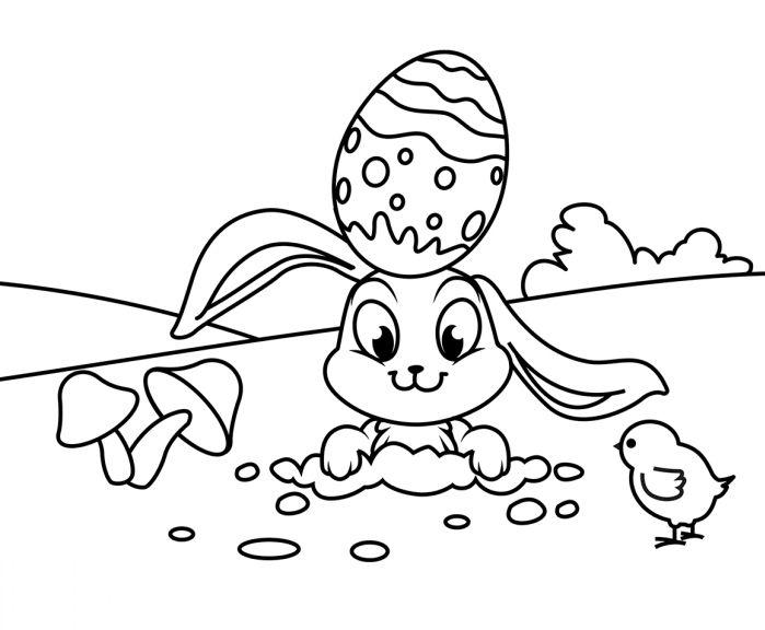 chasse-aux-oeufs-nature-printemps-coloriage-maternelle ...