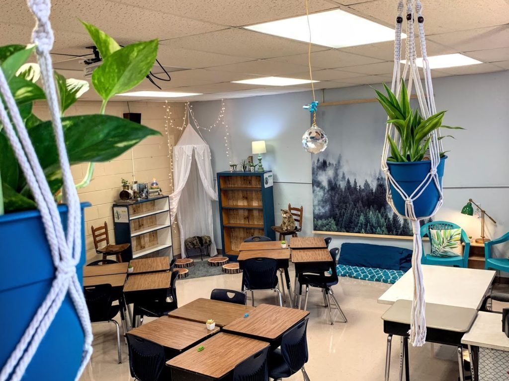 Nature Themed Classroom Decor: A Calming and Plant Filled Classroom - Building Book Love in 2020 | Classroom decor. Elementary classroom decor ...