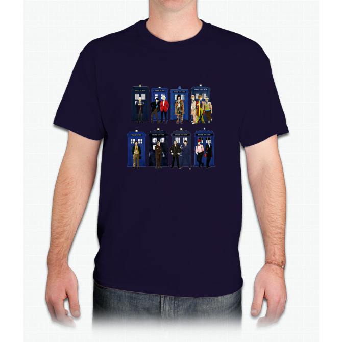 Doctor Who - Doctors & Tardises - Mens T-Shirt