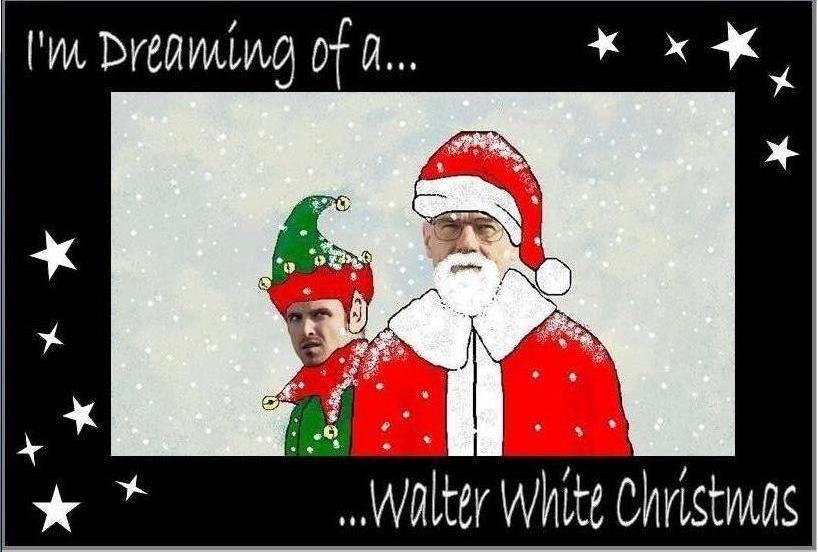Breaking Bad Christmas By Stephanie Hobbs Breaking Bad White Christmas Walter White