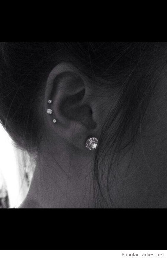 Diamonds in my ears #earpeircings