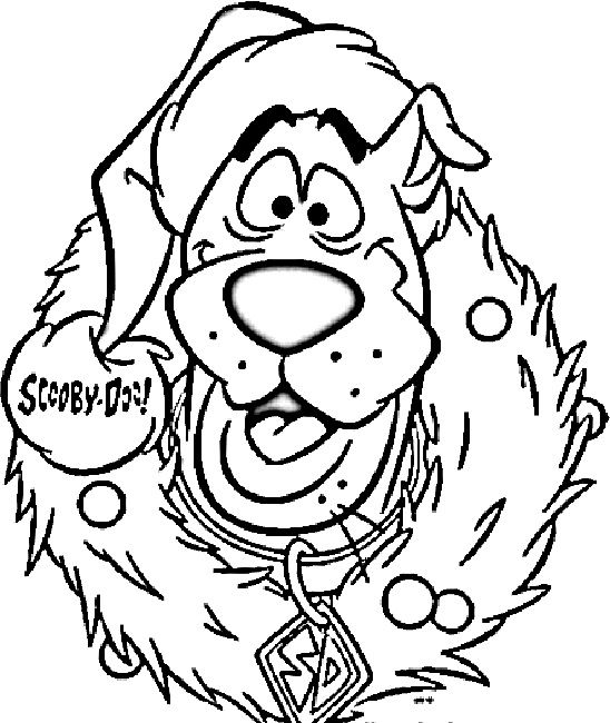scooby doo coloring pages christmas | coloring pages | Pinterest