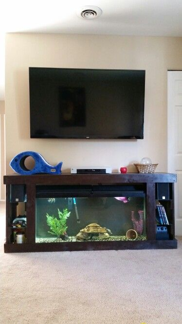 Aquarium Living Room Decor: Aquarium TV Stand …