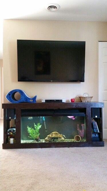 Aquarium Tv Stand Diy Fish Tank Fish Tank Design Fish Tank Stand