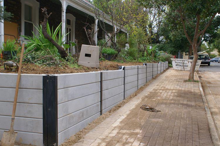 Concrete Sleepers Retaining Walls Adelaide Brisbane Landscaping Retaining Walls Concrete Sleepers Concrete Retaining Walls