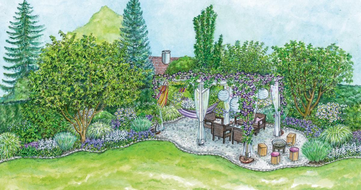 Gestaltungsideen für einen Sitzplatz im Blütenmeer Garten and Gardens - schoner garten mit wenig geld