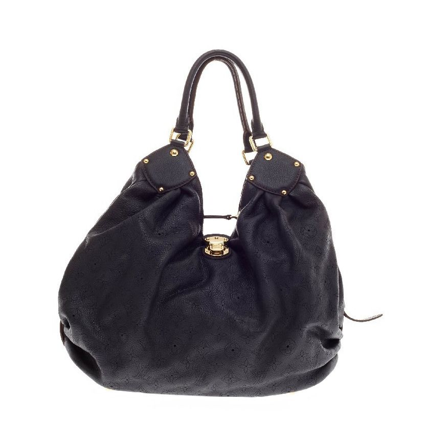 Louis Vuitton Neo Hobo Mahina Leather Large | From a collection of rare vintage shoulder bags at https://www.1stdibs.com/fashion/handbags-purses-bags/shoulder-bags/