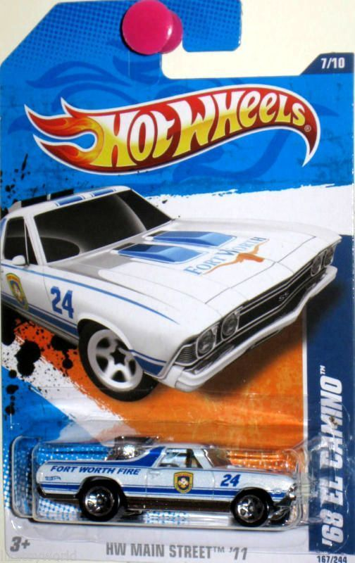 1968 Chevy El Camino Hot Wheels 2011 Main Street 7 10 White Fort