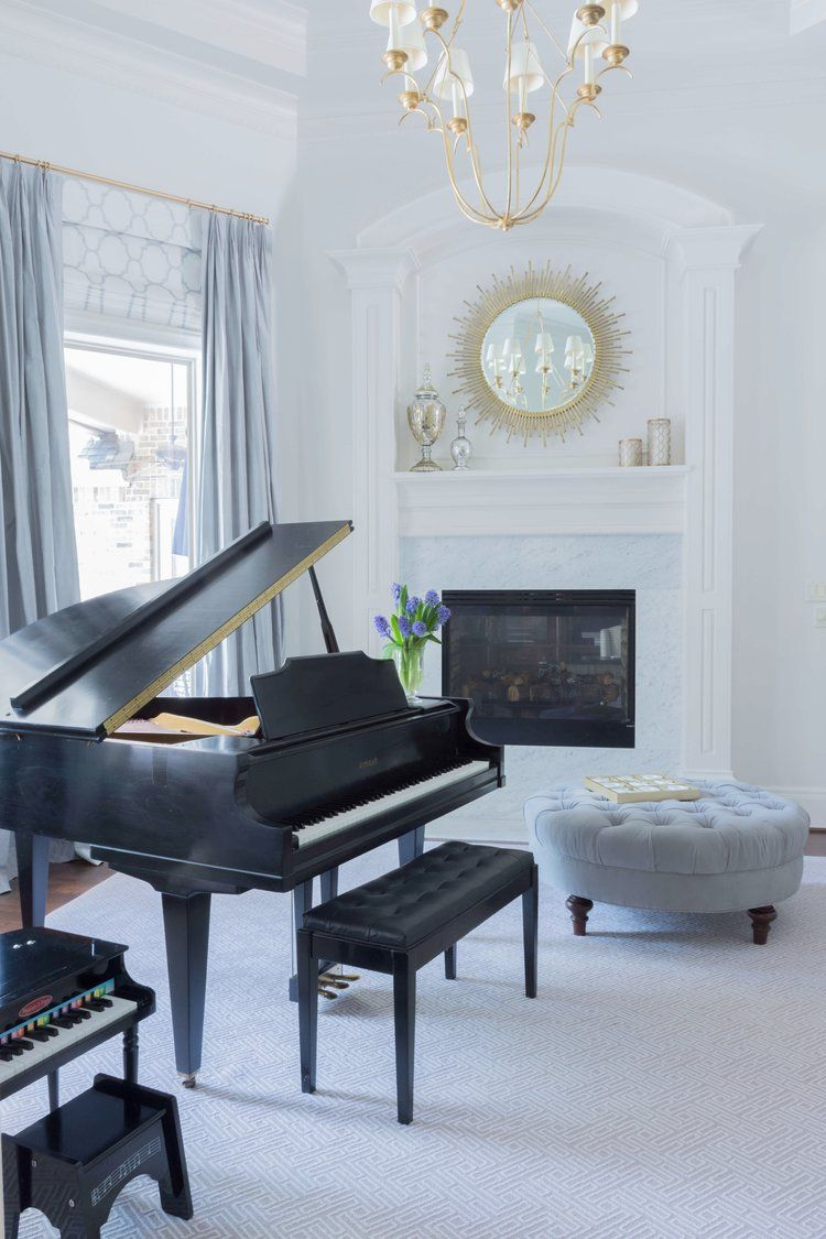 Making A Formal Living Room A Little More Child Friendly Designed Piano Room Decor Piano Living Rooms Grand Piano Room