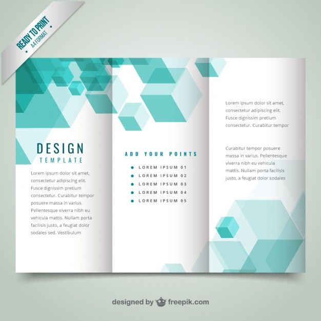 Geometrical Modern Brochure Template Free Vector  Business Pamphlet Templates Free