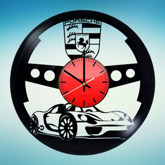 Porsche Handmade Vinyl Record Wall Clock Vinyl Clocks Wall Clock Clock Vinyl Record Art