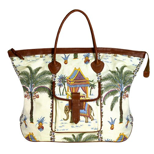 Beautiful Jim Thompson Fabric Ferry Weekend Bag By Zink Brand At