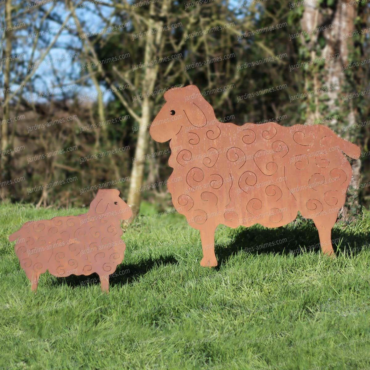 silhouette mouton au choix d co de jardin en m tal mouton silhouettes et herbe. Black Bedroom Furniture Sets. Home Design Ideas