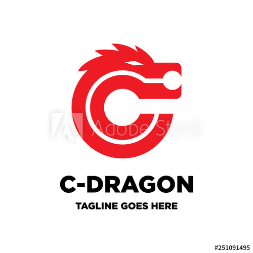 Letter C Initial And Dragon Logo Icon Vector Template Buy This Stock Vector And Explore Similar Vectors At Adobe Stock Adobe Sto Logos Logo Icons Lettering