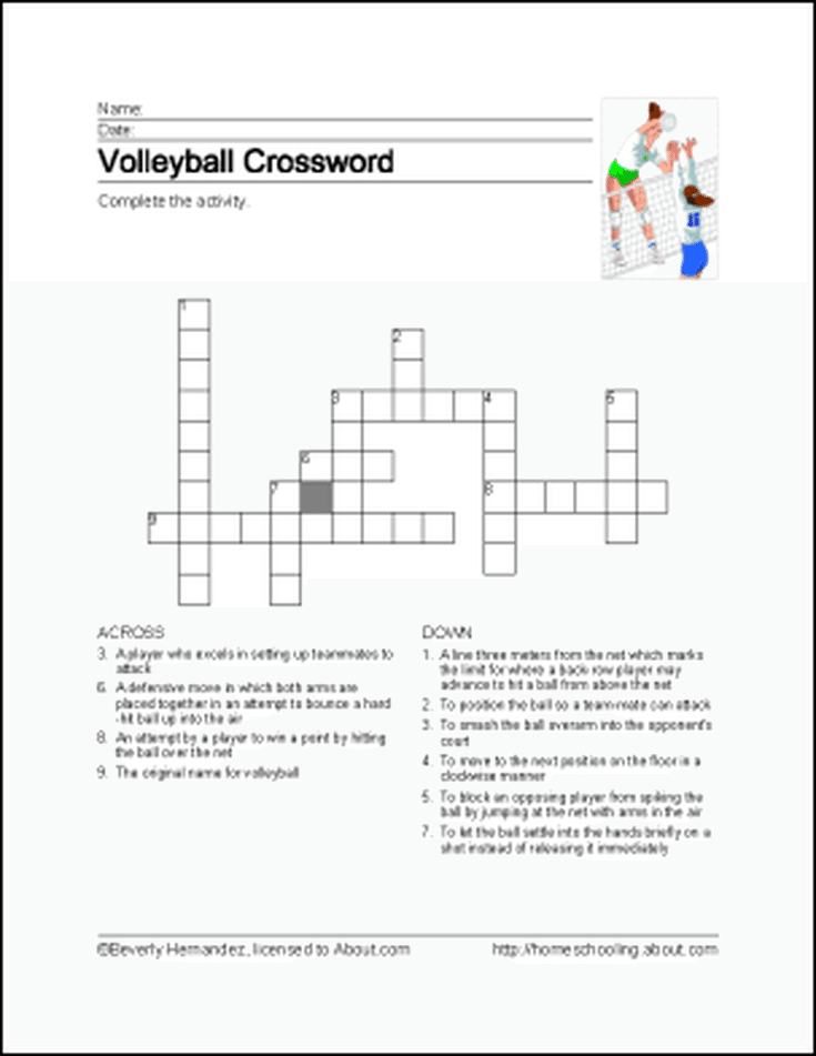 Learn About Volleyball With Free Volleyball Printables Volleyball Volleyball Rules Coaching Volleyball
