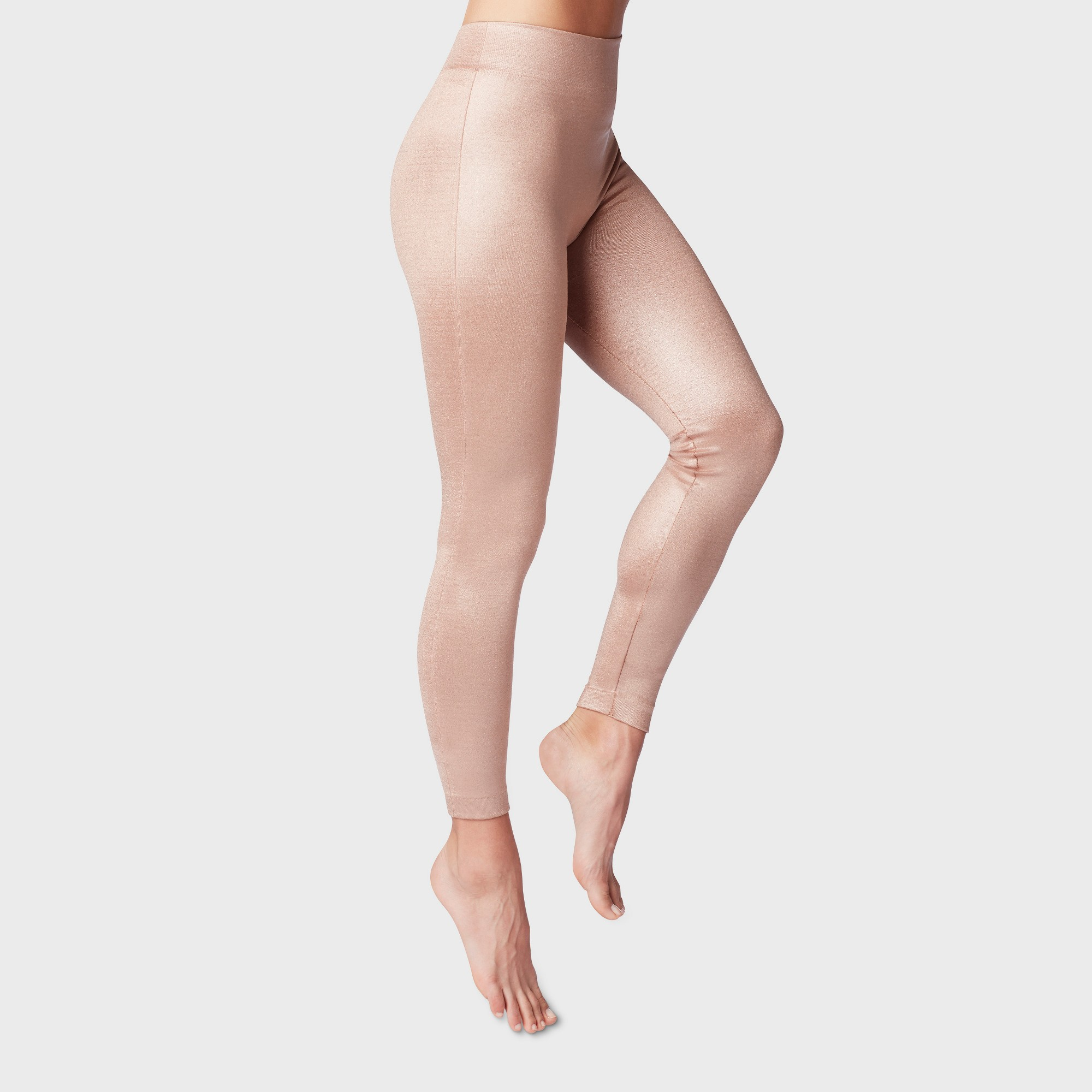 c02732646 Women's Fleece Lined Tights - A New Day Pink S/M, Rose Gold | draw ...