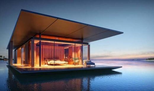 Casa flotante diseñada por Dymitr Malcew http://paisajismoyjardin.com/es/Noticias/default.aspx?CodNot=98
