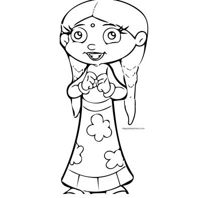 Chota Bheem Coloring Pages Chutki | Coloring Pages | Pinterest ...