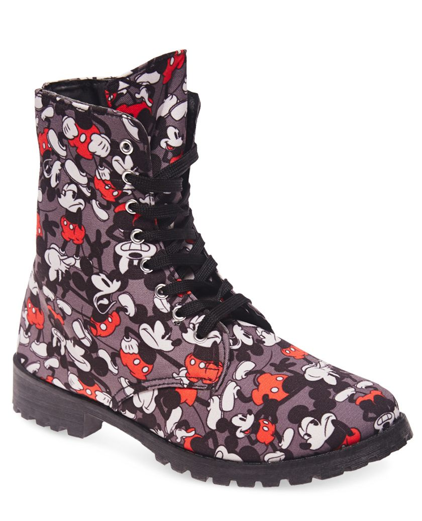 mickey mouse combat boots wet seal disney fashion. Black Bedroom Furniture Sets. Home Design Ideas