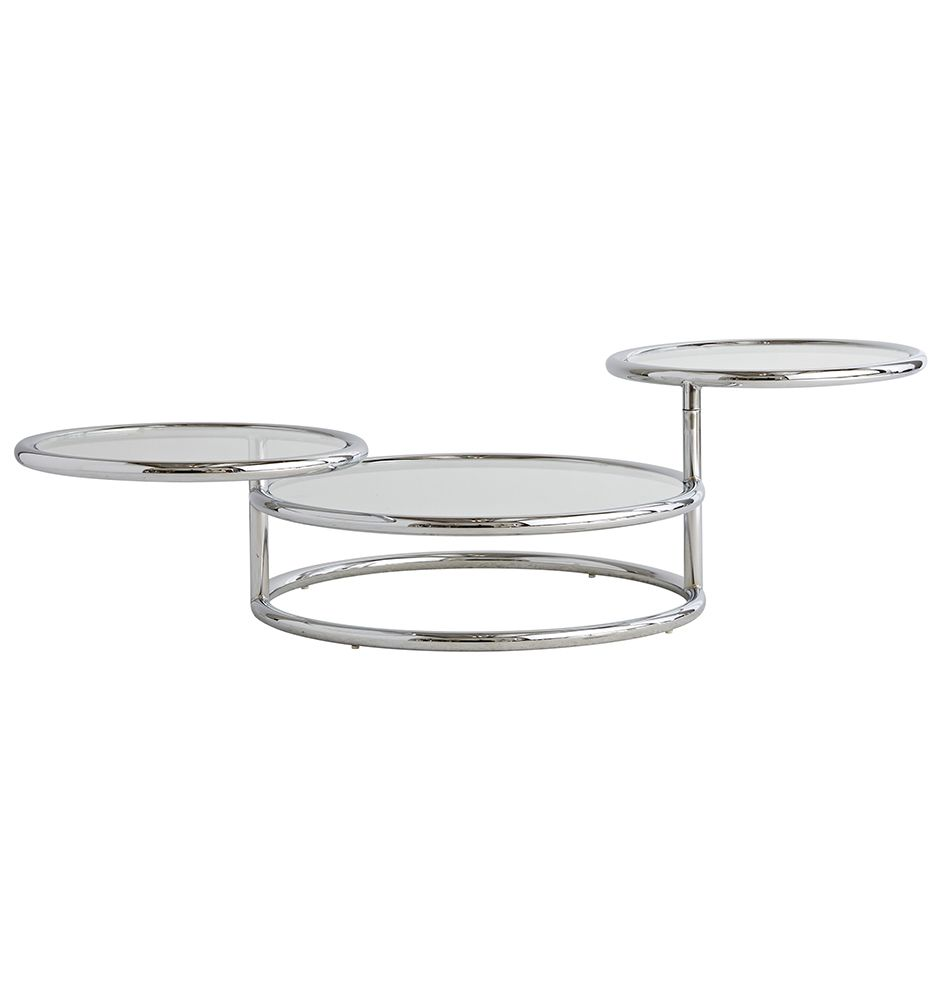 Modern 3 Tiered Coffee Table In Chrome Glass Table Vintage Light Fixtures Antique Hardware