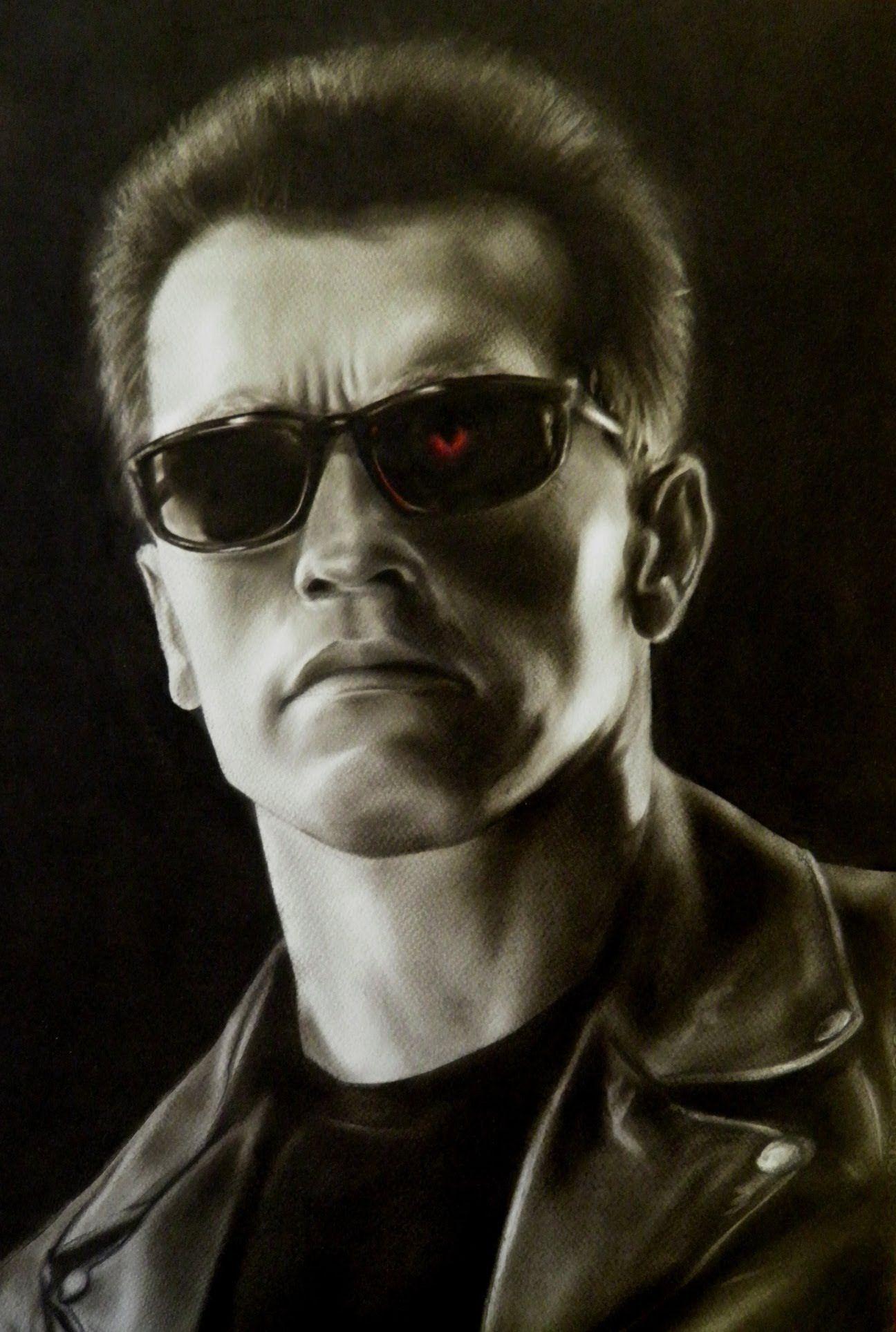 Arnold Schwarzenegger drawing ( Terminator 2: Judgment Day ...