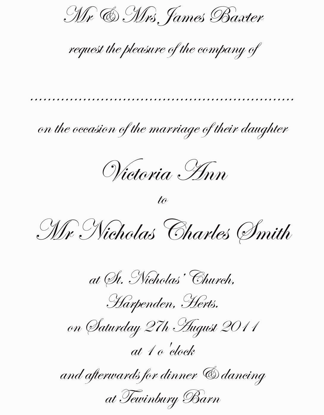 Cool Best Traditional Wedding Invitation Wording Free Ideas